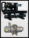 Refrigerador de refrigeração do parafuso da proteção da pressão água industrial para Armarium