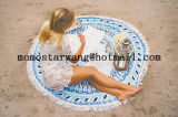 Algodón impreso alrededor de la toalla de playa del círculo con de alta calidad