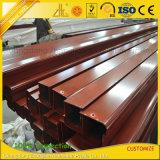 Zhonglian modificó la protuberancia de madera cubierta polvo colorido del aluminio para requisitos particulares del grano