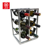 Fabrik passte 6 Wein-Zahnstange der Flaschen-Iron+PU der Hauptmöbel an
