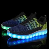 Nieuwe Materiële LEIDEN van Flyknit van het Product Lichtgevend Licht op LEIDENE Schoenen 2016 voor de Vrouwen van Mannen