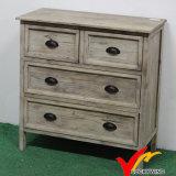 Cabina de almacenaje casera de la vendimia del arte de madera sólida