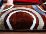 El azulejo de la alfombra con el estiramiento del hilo y seda de la sensación 3D