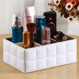 Household PU Leather Remote Controller Caixa de armazenamento, PU Leather Cosmetics Storage Box