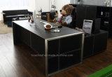 Lederner Büro-Tisch der Fashion&Modern Möbel-PVC/MDF (V1)