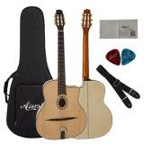 Aiersiのハンドメイドの楕円形の健全な穴のジプシーのギター