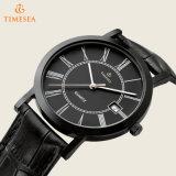 Qualitäts-Quarz-Uhr, Formmens-Leder-Uhr 72437