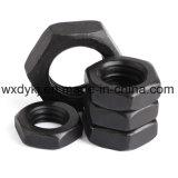Noix Hex mince de tête noire en acier de haute résistance d'hexagone