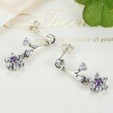 925 Sterling Silver Jewellery Flower Lady Earrings