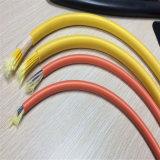 Cabo Singlemode da correção de programa da fuga das fibras múltiplas com revestimento vermelho