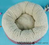 O algodão grosso reuniu a casa macia do animal de estimação do velo coral da base do animal de estimação