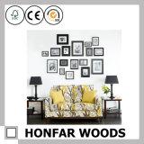 Frame de retrato de madeira do preto europeu do estilo para a decoração