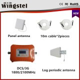 Amplificateur mobile à deux bandes de signal de la vente chaude neuve 3G 4G Dcs/3G 1800/2100MHz de modèle avec l'antenne