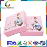 Caixa cosmética do papel de arte da impressão 350g de Cmyk 4c da parte alta da fábrica para o Blusher
