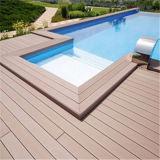 Анти--UV напольный Decking WPC с естественной деревянной текстурой (HY140H25B)
