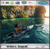 Singel Kayak à pêche en plastique avec pagaie
