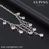 74565 Fashion Xuping Rhodium Plated Zircon Anklet for Foot