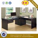 Черная деревянная офисная мебель таблицы E1 компьютера менеджера (HX-NS3119)