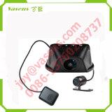 Camma doppia del precipitare della macchina fotografica dell'automobile della scatola nera dell'automobile DVR dell'obiettivo con la macchina fotografica Dashcam del precipitare dell'automobile di GPS