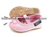 美しい女の赤ちゃんの赤ん坊のズック靴のスリップオンの履物の靴(FFBB1230-03)