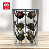 De fabriek paste 6 het Rek van de Wijn van de Fles Iron+PU van het Meubilair van het Huis aan