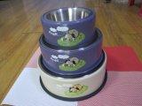 [ستينلسّ ستيل] محبوب مغذية كلب قصع/إنحناء حيوانيّ مع رصيف صخري