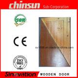 Portello di legno con legno solido verniciato