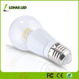 Het Licht van de ronde LEIDENE van Houisng van het Aluminium van de Lampekap E27 6W Bol van de Kaars