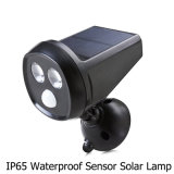 2LED IP65 brilhante super Waterproof a luz psta solar do sensor de movimento