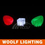 16のカラー変更との屋外のための防水プラスチック浮遊LEDの立方体ライト