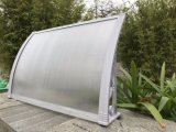 Baldacchino durevole del tetto del metallo del portello con i montaggi di alluminio del baldacchino
