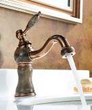 Роскошно определите смеситель тазика мрамора ванной комнаты ручки латунный (Zf-M01)