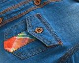 2 لون نمو دنيم بناء & نسيج مربّع أطفال يلبّي فتى قميص
