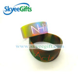 Bracelets promotionnels de silicones de remous avec le logo fait sur commande
