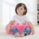 Круглая подушка младенца сплошного цвета Handmade