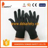 gants en nylon noirs Dch127 du polyester 13G