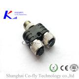 Coaxiale van de Splitser en de t-Splitser van Y CAT6 PCB Jack M12 Waterproof Cable Connector