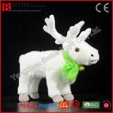 Lebensechtes scherzt Chirstmas Geschenk-Plüsch-Tier angefülltes Karibu Spielzeug-weiches weißes Ren-Spielzeug
