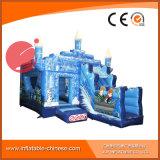 PVC膨脹可能なトランポリンはからかう弾力があるスライドのコンボの城(T3003)を