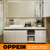 Governo di legno bianco moderno di vanità della stanza da bagno di Oppein (OP14-007B)