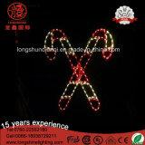 LEDの屋外IP65セリウムの屋外の照明装飾のための多彩な北の星ロープのクリスマスの照明