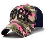 Gorra de béisbol lavada bordado promocional de encargo de los deportes del algodón de Burshed del casquillo del bordado