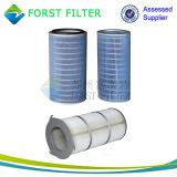 Elemento de goma del cartucho del filtro de ciclón del polvo de Forst