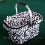 Bolso portable de la cesta de compras del almuerzo con la maneta de aluminio plegable