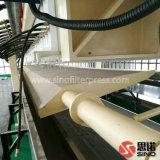 Prensa de filtro de las aguas residuales con la bandeja del goteo