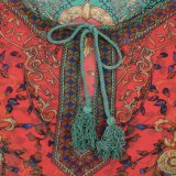 Coágulo impreso Boho retro de De Festa Hippies Vestidos de las alineadas de rotación de las mujeres de Vestido 2017 de la vendimia de la alineada barroca del estilo del verano
