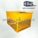 Coffre compressible de conteneur de treillis métallique