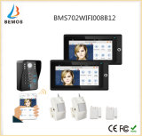 """Populäres 7 """" 2 Monitor WiFi drahtloses RFID Kennwort-videotür-Telefon-Wechselsprechanlage-Türklingel"""