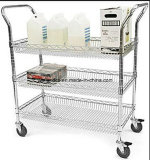 Multi-Purpose 3 Tiers Steel Drinks Trolley com NSF Aprovação