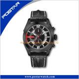 Ultimo orologio specializzato della vigilanza dell'acciaio inossidabile della cassa dell'oro della Rosa di disegno cuoio
